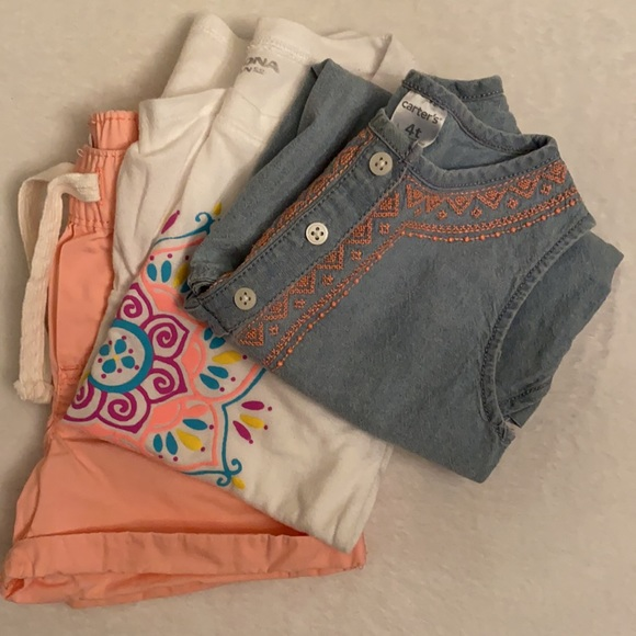 2 Outfits {Lot of 2 tops & 1 pair of shorts}